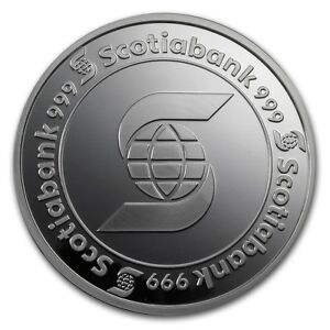 5 oz Scotiabank Silver Round 999