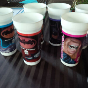 Batman and Robin Collector Cups