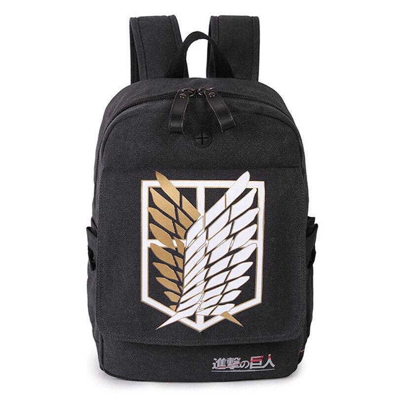 Anime Attack on Titans Student School Backpack Kawaii Shoulder Messenger Bag A