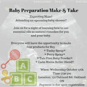 Baby Preparation Make & Take with Essential Oils