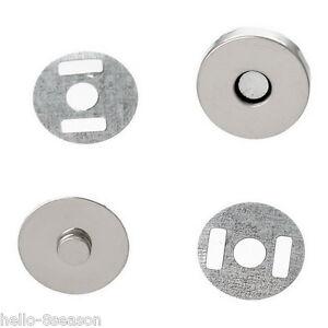 10Sets Silver Tone Magnetic Purse Snap Clasps/ Closure Purse Handbag