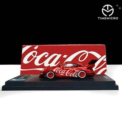 TimeMicro 1:64 Model Car Prosche RWB993 Cola Version Alloy Car Model