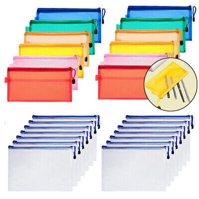 1215pcs A4 Letter File Folder Paper Document Organizer Bags Storage Pocket Bag