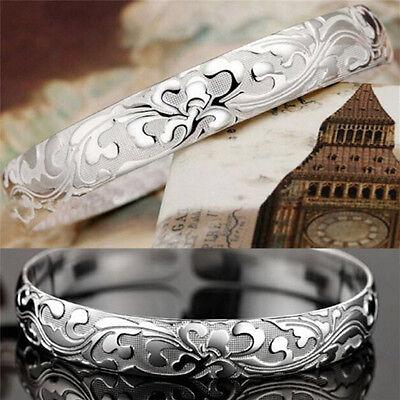 1X Damen Schmuck 999 Sterling Silber Armreifen Manschette Armbänder Hohe-Q Hl