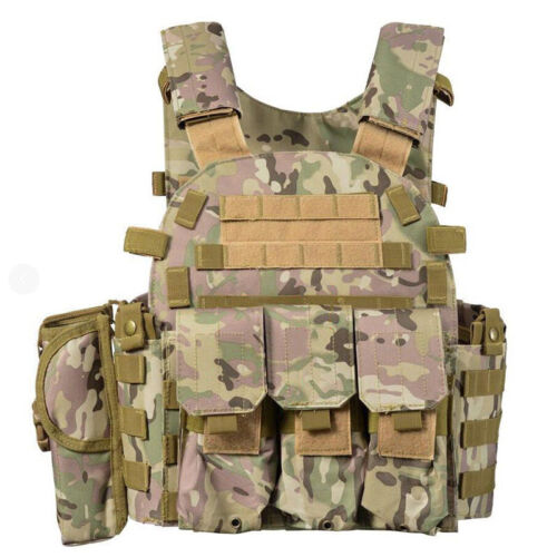 Sirius Survival MOLLE Tactical Vest - with Pockets & Pouches - 5 Colors