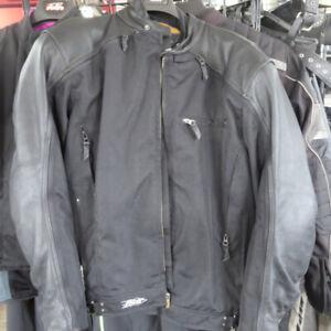 Power Trip 3 Season Men's Leather Textile Mesh Motorcycle Jacket