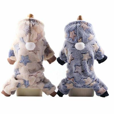Soft Fleece Dog Jumpsuit Winter Dog Clothes Small Puppy Coat Pet Outfits Hoodie Fleece Dog Coat