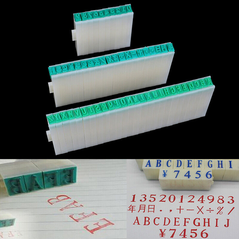 1 Set English Alphabet Letters Numbers Rubber Stamp Free Com