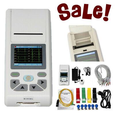 Touch Screen 12-lead Ecgekg Machine Electrocardiograph Sync Pc Software Ecg90a