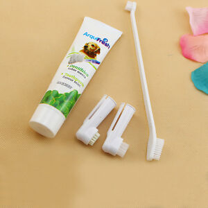 3pc Brushes Dog Cat Pet Hygiene Teeth Care Toothbrush Toothpaste Set