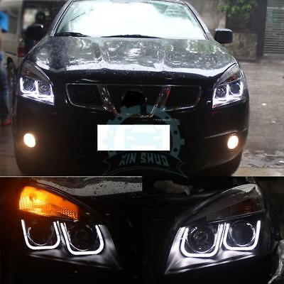 Auto Xenon Headlights With LED DRL Replacement For Nissan Qashqai 2007-2015