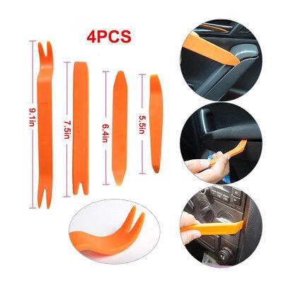 4PCS Car Door Trim Panel Dash Stereo Radio Installer Removal Pry Tools Plastic