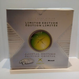 LIMITED EDITION XBOX CRYSTAL EDITION VIDEO GAME SYSTEM X-BOX