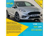 2018 FORD FIESTA ST-LINE TURBO APPLE CARPLAY PARKING SENSORS SERVICE HISTORY