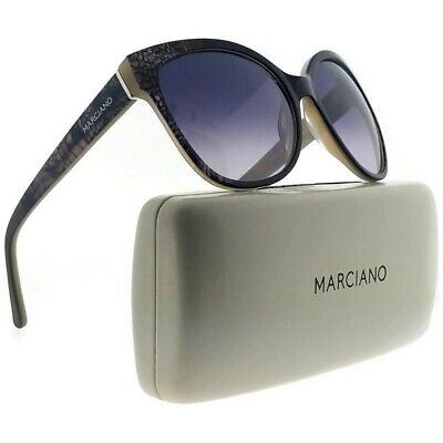 Guess By Marciano GM0727-05B-58 Cat Eye Women Black Frame Purple Lens (Guess Sunglasses By Marciano)