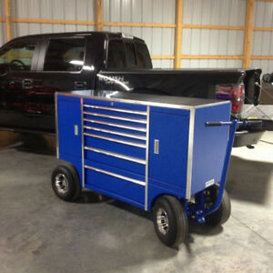 Bulldog Pit Carts, Tool Box, Work Benches, Race Track, Tools