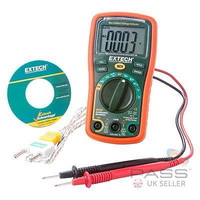 *NEW* Genuine Extech EX330 12-Function Mini Multimeter + Voltage Detector / UK