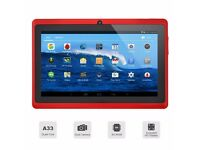 """7"""" inch Android 4.4 Quad Core Tablet PC MID 8GB Dual Camera Wifi Bluetooth Red"""