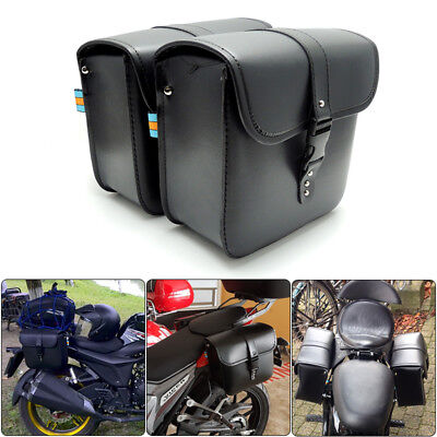 b3a2c7f26f8 Saddle Bag Luggage Bag Fork Tool Pouch PU Leather For Motorcycle Yamaha bags