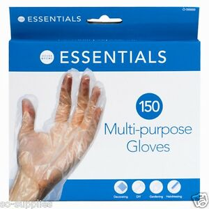 150-X-DISPOSABLE-PLASTIC-POLYTHENE-CLEAR-GLOVES-FOOD-CLEANING-DECORATING-CAR