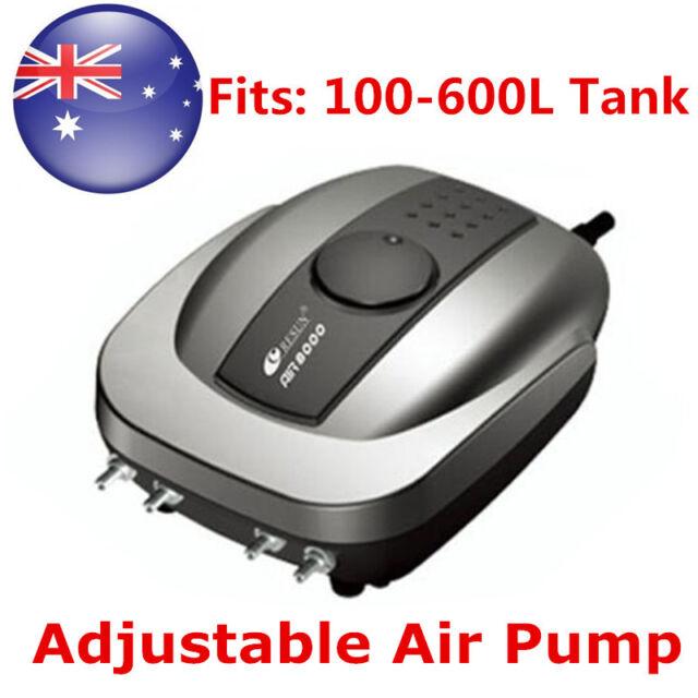 640L/H Aquarium Quiet Fish Tank Adjustable Air Pump with 4 Outlets AU