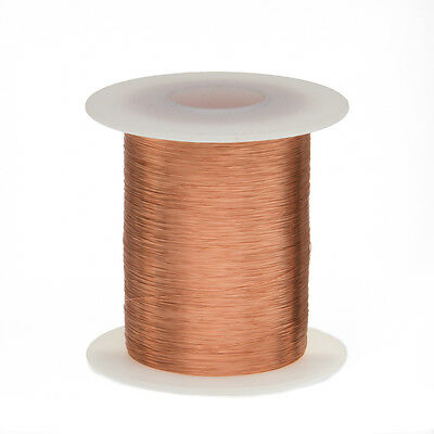 "35 AWG Gauge Enameled Copper Magnet Wire 2oz 1277' Length 0.0061"" 155C Natural"