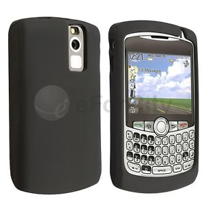 Black Silicone Rubber Skin Gel Cover Case for Blackberry Curve 8330 8300 8310