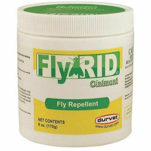 FlyRid Ointment Fly Repellent 6oz Repels House Stable Face &