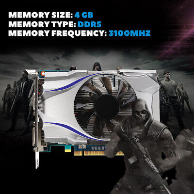 GT730 4 GB DDR5 128 Bit PCI Express Grafikkarte für Esport Gaming new