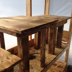 home crafted end tables and coffee tables,  misc sizes