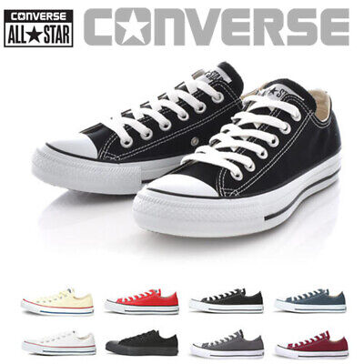 Unisex Converse All Star High/Low Tops Canvas Shoes Black/Red/White EU 35-44