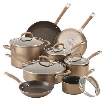 CIRCULON PREMIER PROFESSIONAL HARD ANODIZED NON STICK COOKWARE 13 PIECE SET Circulon Hard Anodized Cookware