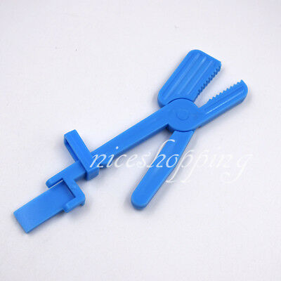20 Pcs 5 Inch Dental X-ray Film Clip Holder Radiograph Plastic Blue Clamp Head
