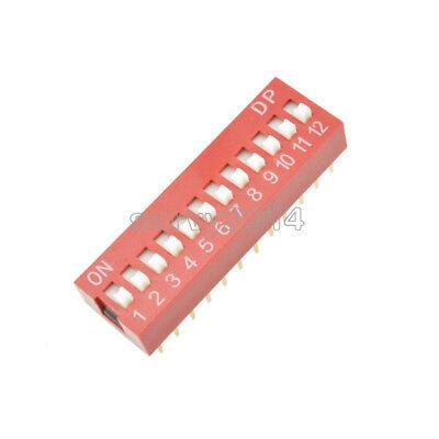 10pcs Slide Type Switch Module 2.54mm 12-bit 12 Position Way Dip Red Pitch