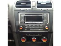 3D Car Audio Switch Knob Sticker Flag Style For VW Golf MK6 Bora Passat B6 CC