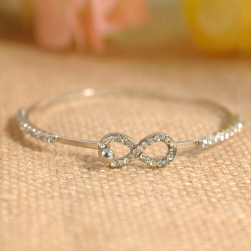 Top Fashion Women Elegant Bangle Cuff Rhinestone Crystal Bracelet Jewelry Gift