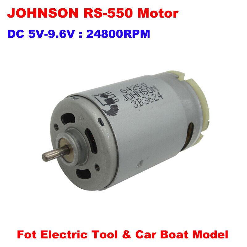 JOHNSON RS-550 Electric DC Motor 6V 9.6V 24800RPM High Speed Power 3.17mm Shaft