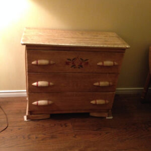 Beautiful Antique Decoratively Painted Dresser