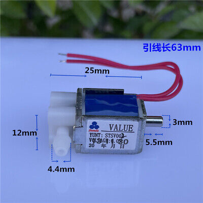 Dc 3.7v 5v 6v Mini Electric Solenoid Valve Normally Open No Air Flow Control