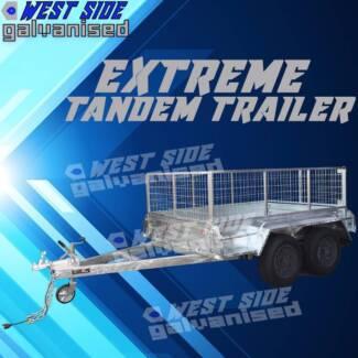 8x5 ✱Extreme Heavy Duty Duel Axle Galvanised CAGEBlackWheel Tande