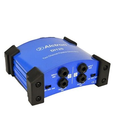 Passive Stereo Direct Box Dual 2 Channels DI Box for Keyboards Electric Guitar
