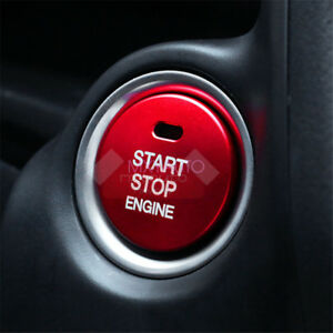 New Aluminum Engine Start Stop Button Cover Trim For Mazda 2 3 6 CX-3 CX-5 Red