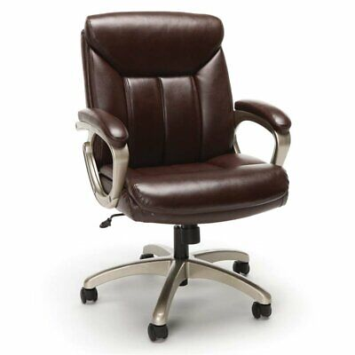 Scranton Co Leather Executive Swivel Office Chair In Brown