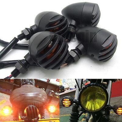 4x 12V 10W Motorcycle Turn Signal Indicator Light Lamp Bulb For Harley Kawasaki