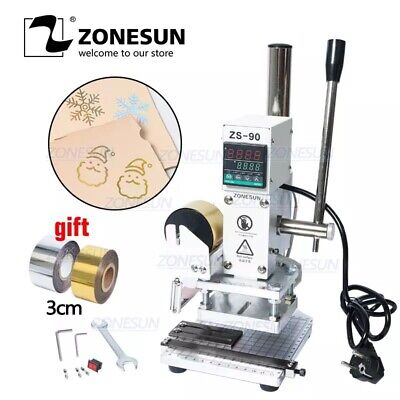 Zonesun Press Trainer Hot Foil Stamping Machine For Leather Wood Paper Branding