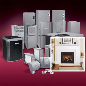 FIREPLACE, GAS FURNACE & CENTERAL AIR CONDITIONERS