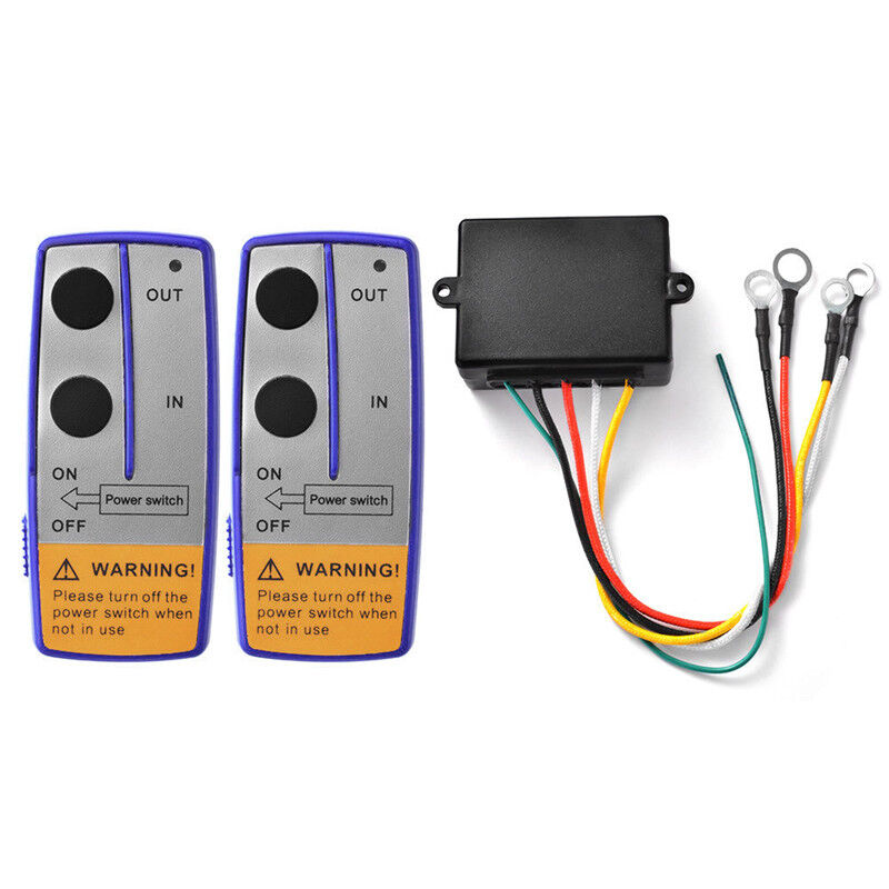 Universal Car Truck 100ft DC 12/24V Wireless Winch Remote Control Switch Handset