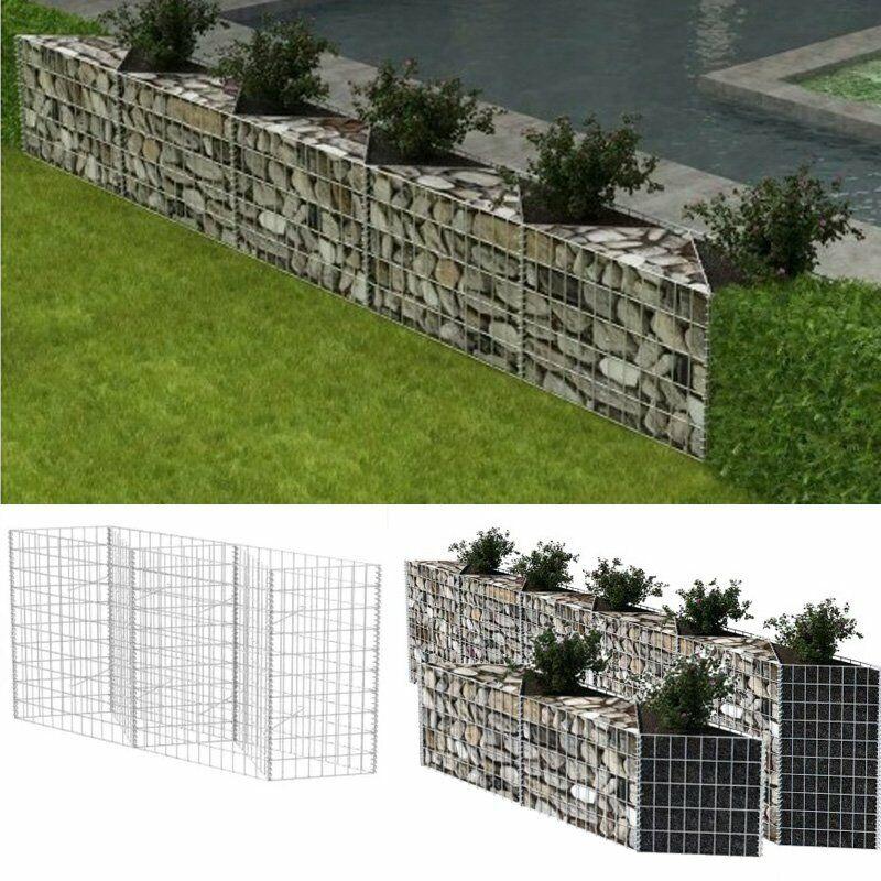 Gabion Basket/Planter/Raised Vegetable Steel Fence Bed Panel Barrier Stone Cage