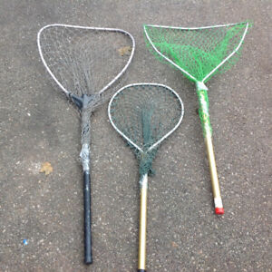 """FISHING NETs - GREAT CONDITION 36""""L  x 13.5"""" x 17""""-$10-$15"""