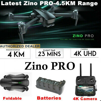 Hubsan ZINO PRO FPV APP Drone 4K Camera 5G Folded Quadcopter W/3 Gimbal+2Battery